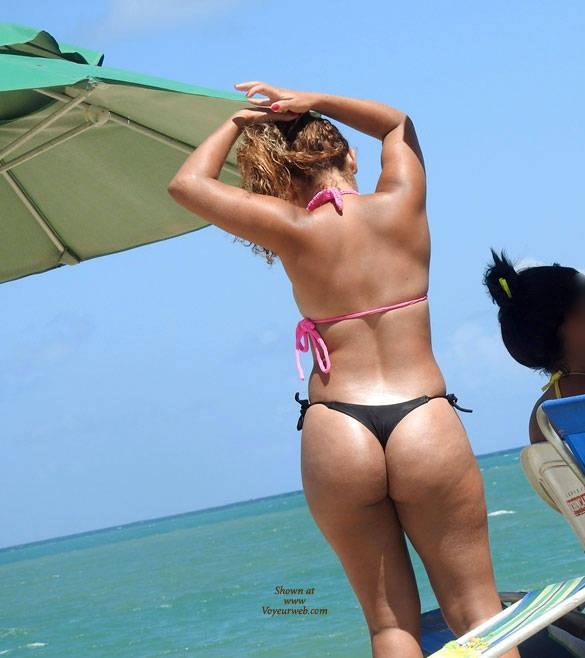 Pic #3 Black Bikini From Recife City, Brazil 01 - Outdoors, Bikini Voyeur, Beach Voyeur