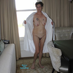 Pictures Of My Lovely Wife (72 Years Young) - Wife/Wives, Mature, Brunette, Big Tits, Tattoos