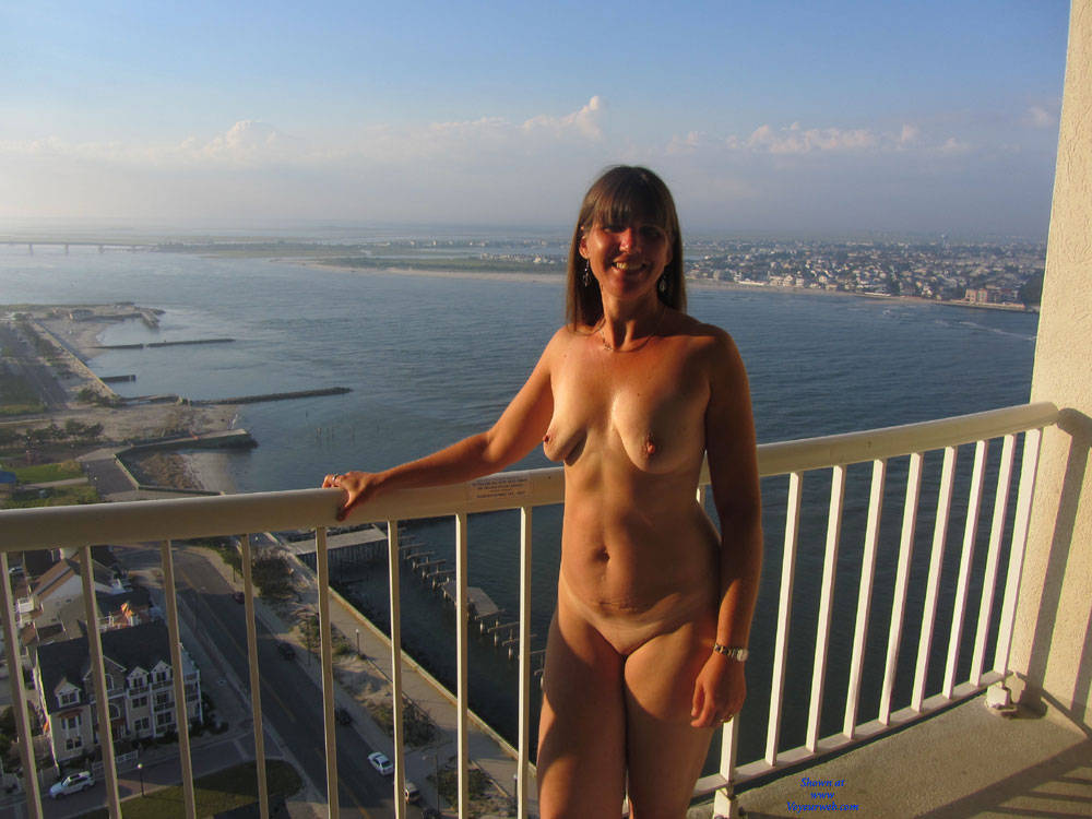 Pic #6 Sandra At AC From Hotel Balcony - Big Tits, Brunette