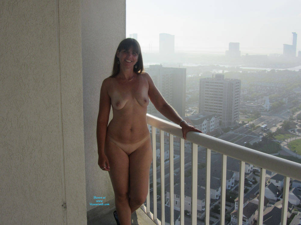 Pic #8 Sandra At AC From Hotel Balcony - Big Tits, Brunette