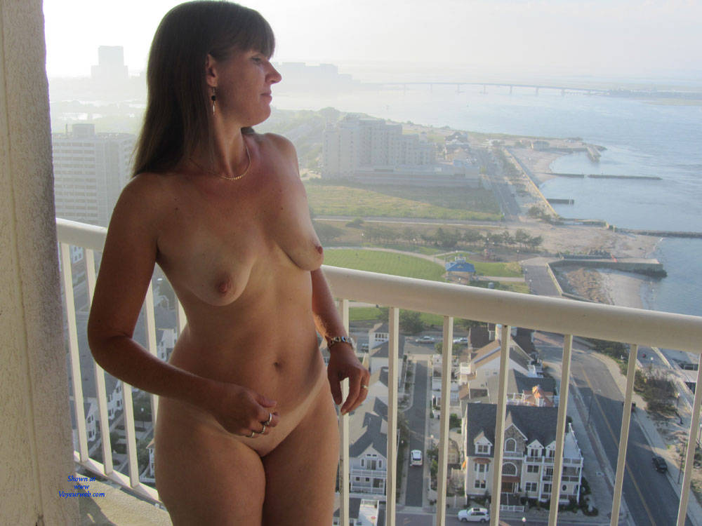 Pic #9 Sandra At AC From Hotel Balcony - Big Tits, Brunette