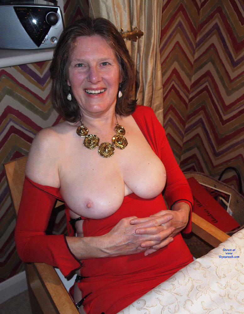 Pic #5 Christmas Eve  - Big Tits, Brunette, Shaved
