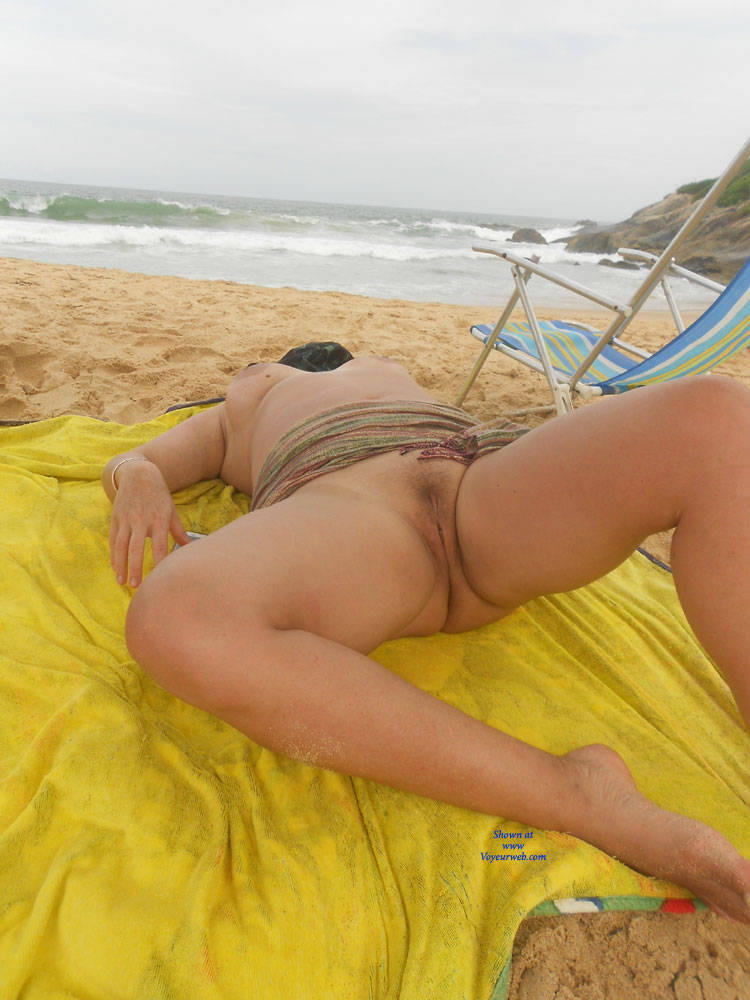 Pic #8 My Wife Beatrice On The Beach - Wife/wives, Outdoors, Mature, Big Tits, Beach, Natural Tits