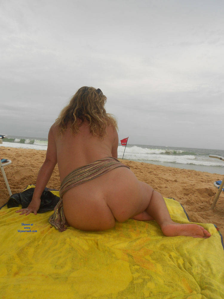 Pic #9 My Wife Beatrice On The Beach - Wife/wives, Outdoors, Mature, Big Tits, Beach, Natural Tits