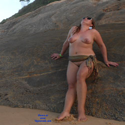 My Wife Beatrice On The Beach - Wife/Wives, Outdoors, Mature, Big Tits, Beach, Natural Tits