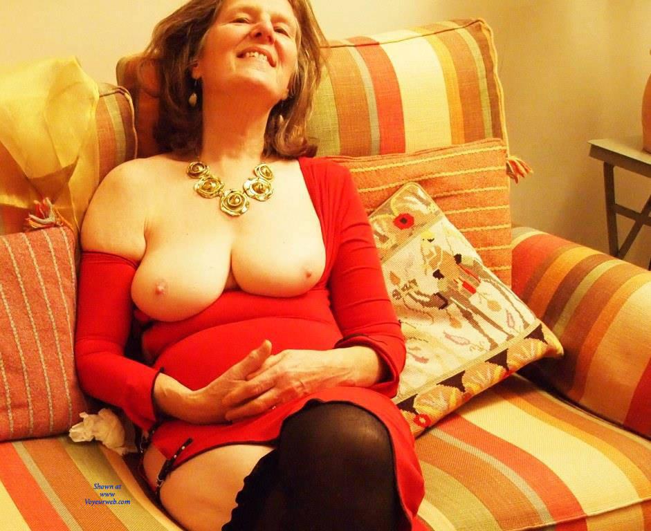 Pic #5 Christmas Eve Together - Mature, Brunette, Big Tits, Shaved