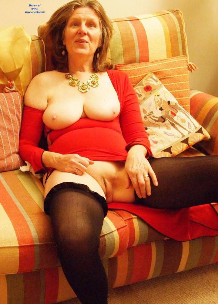 Pic #6 Christmas Eve Together - Mature, Brunette, Big Tits, Shaved