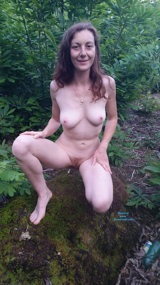 Pic #5 French Wife Audrey Exposed - Nature, Wife/wives, Redhead, Outdoors, Medium Tits