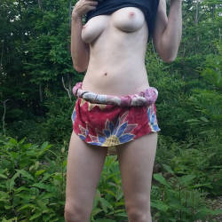 Pic #2 French Wife Audrey Exposed - Nature, Wife/wives, Redhead, Outdoors, Medium Tits