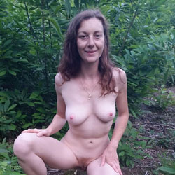 French Wife Audrey Exposed - Nature, Wife/wives, Redhead, Outdoors, Medium Tits