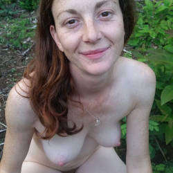 Pic #6 French Wife Audrey Exposed - Nature, Wife/wives, Redhead, Outdoors, Medium Tits