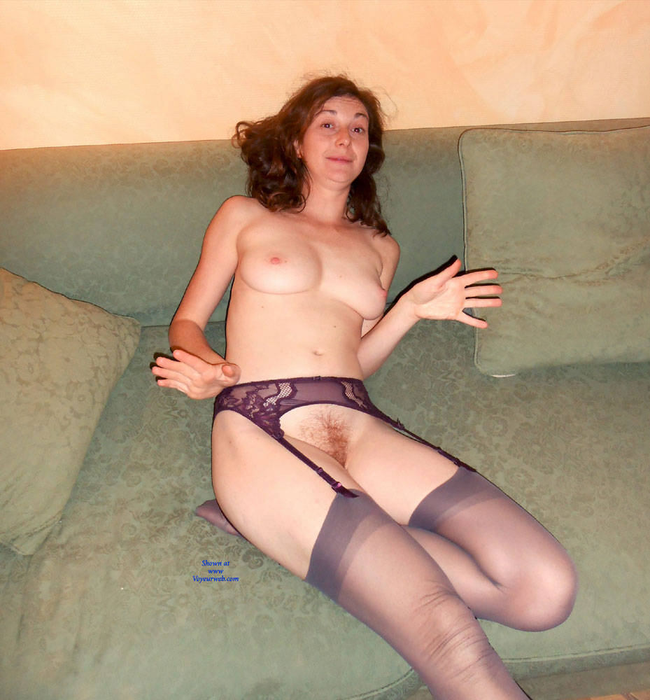 Pic #6 Sexy Home Stripping - Striptease, Redhead, Lingerie, Big Tits, Bush Or Hairy
