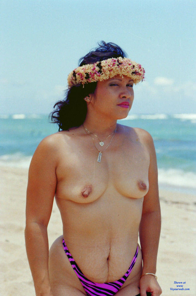 Pic #2 Baby Babe On Mokuleia Polo Beach - Beach, Big Tits, Brunette, Outdoors
