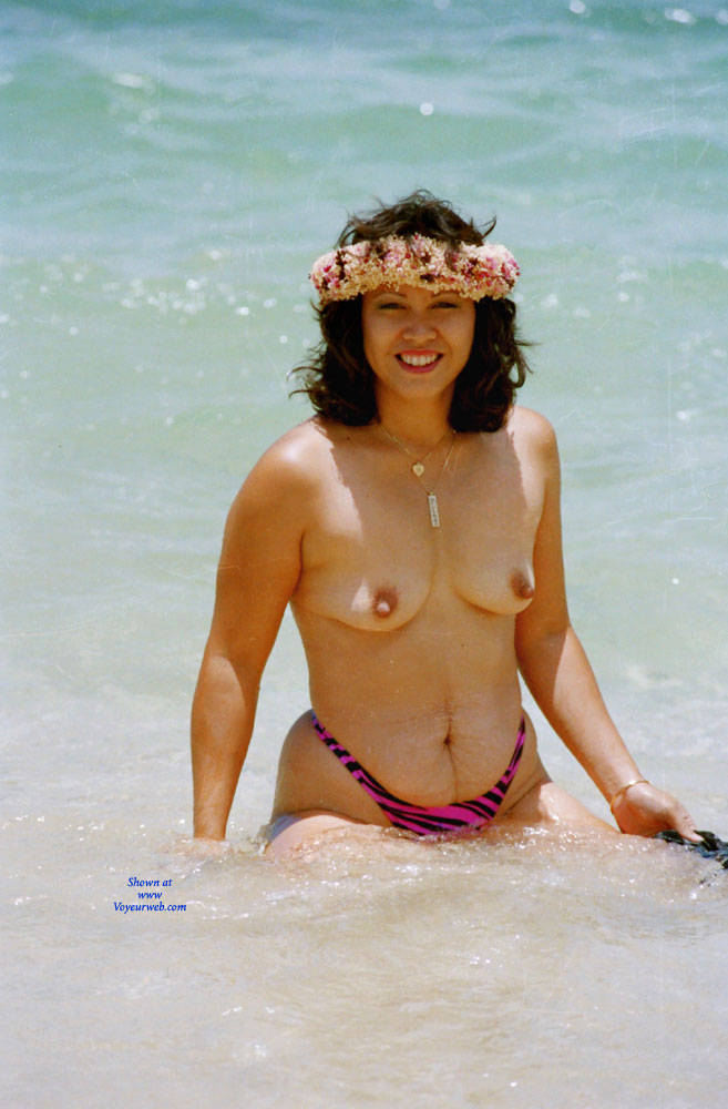 Pic #3 Baby Babe On Mokuleia Polo Beach - Beach, Big Tits, Brunette, Outdoors