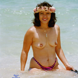 Baby Babe On Mokuleia Polo Beach - Beach, Big Tits, Brunette, Outdoors