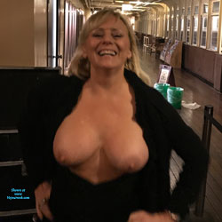 Queen Mary Party - Big Tits, Blonde, Public Exhibitionist, Flashing, Public Place