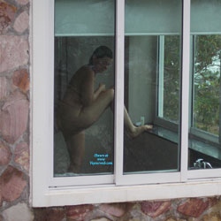 Scene From A Hotel Balcony - Big Tits, Voyeur