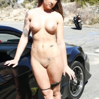 Roadside Assistance 2 - Brunette, Public Exhibitionist, Public Place