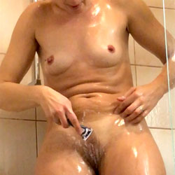 Shaving In The Shower - Shaved, Wife/Wives, Natural Tits