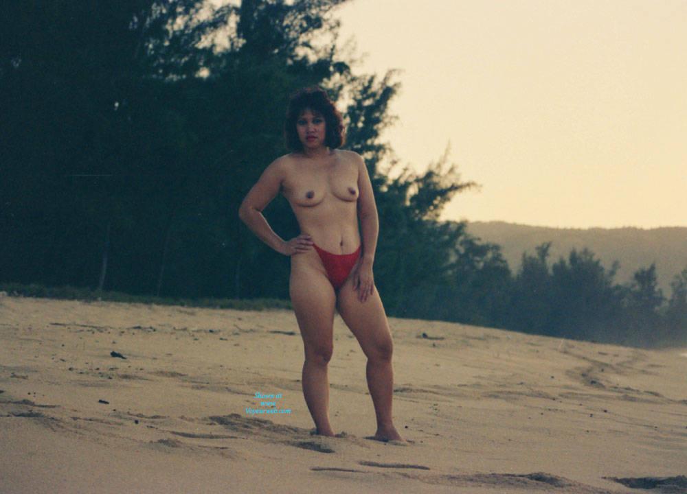 Pic #3 Hawaiian Sunset - Beach, Brunette, Outdoors