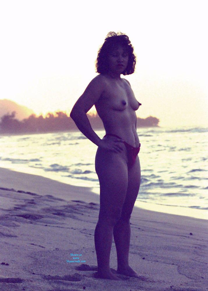 Pic #6 Hawaiian Sunset - Beach, Brunette, Outdoors