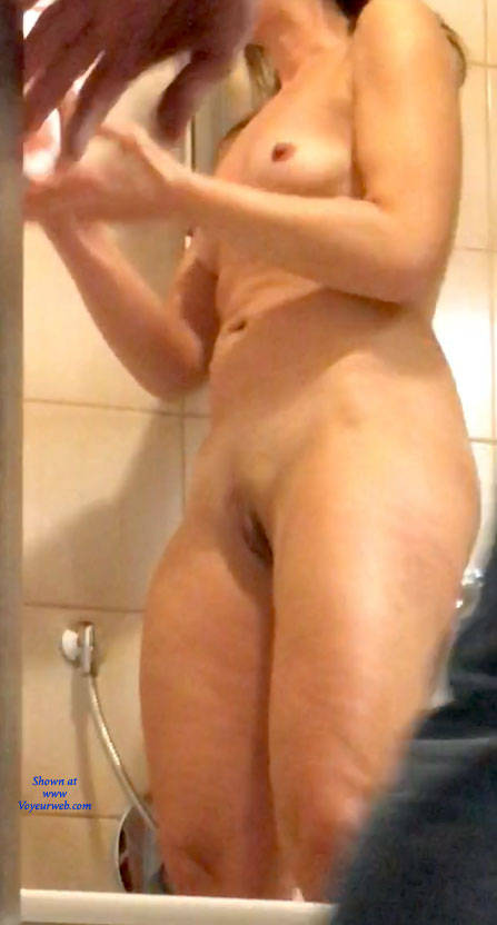 Pic #2 Standing - Small Tits, Shaved, Amateur