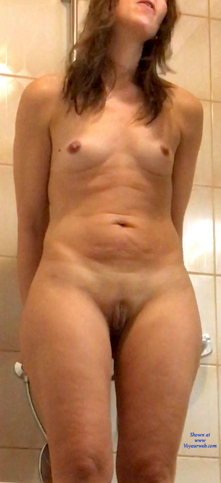 Pic #3 Standing - Small Tits, Shaved, Amateur