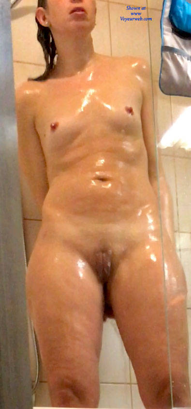 Pic #9 Standing - Small Tits, Shaved, Amateur