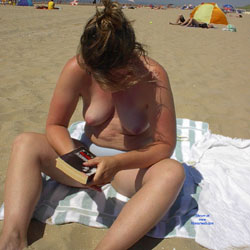 Topless At The Belgian Sea - Beach, Big Tits, Wife/Wives, Amateur