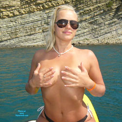 Katy On Her Alone Vacation - Beach, Blonde, Outdoors