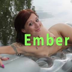 Ember Naked In The Pond - Outdoors, Redhead, Shaved, Nature