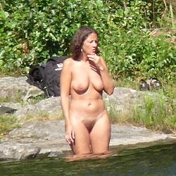 Summer Paradise - Big Tits, Brunette, Outdoors, Bush Or Hairy, Beach Voyeur