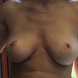 Medium tits of my wife - 38ddd