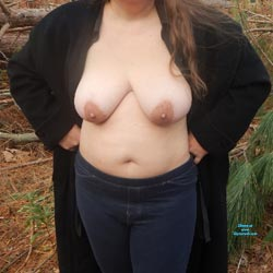 Woods Walk - Big Tits, Outdoors, Wife/Wives, Nature, Bush Or Hairy