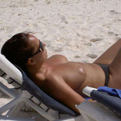 The Toppless Wife - Beach, Big Tits, Outdoors, Wife/Wives, Topless Wives