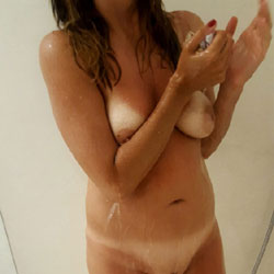 First Shower In 2017 - After Party  - Big Tits, Bush Or Hairy, Amateur, Wife/Wives