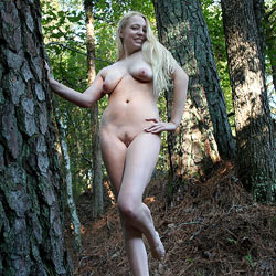 Naked Blonde In The Woods - Big Tits, Blonde Hair, Full Nude, Long Hair, Nude In Nature, Nude In Public, Nude Outdoors, Perfect Tits, Trimmed Pussy, Sexy Legs