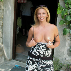 Nude Blonde Showing Tits - Big Tits, Blonde Hair, Exposed In Public, Flashing, Nude In Public, Nude Outdoors, Perfect Tits, Sunglasses, Naked Girl