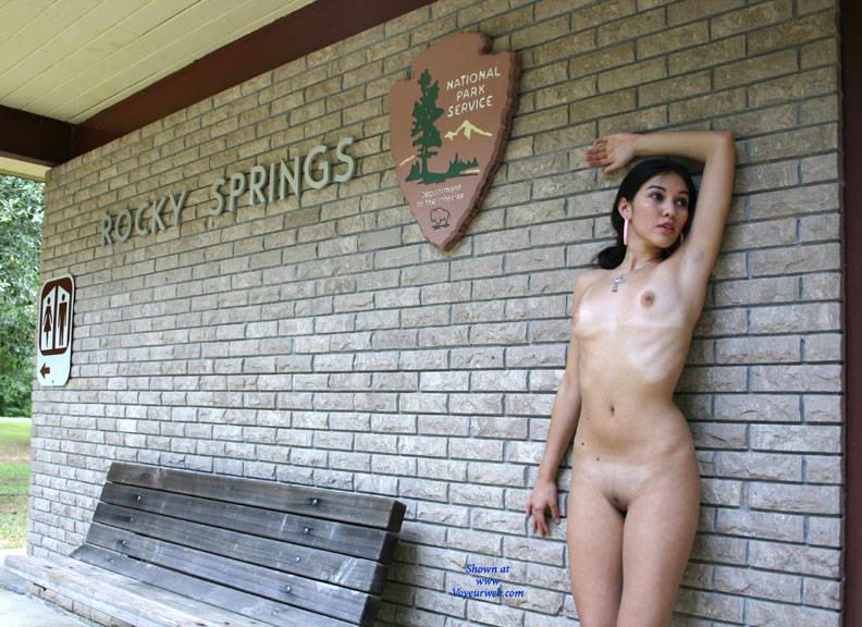 Pic #10 Info Center - Brunette, Public Exhibitionist, Public Place, Shaved, Natural Tits