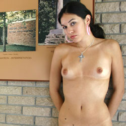 Naked Brunette In Public Info Center - Big Tits, Brunette Hair, Exposed In Public, Firm Tits, Full Frontal Nudity, Full Nude, Natural Tits, Nipples, Nude In Public, Shaved Pussy, Naked Girl, Sexy Legs