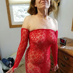 Sexy Red Is Ready - Big Tits, Lingerie, See Through, Amateur