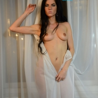 Bedroom Curtain - Brunette Hair