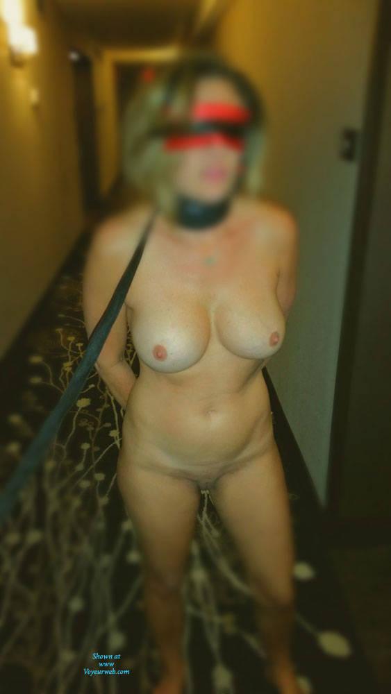 Pic #1 Hotel Exhibition - Big Tits, Public Exhibitionist, Lingerie, Public Place, Amateur