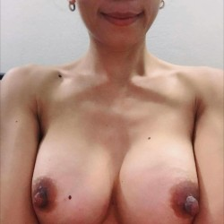 Large tits of my wife - Flower