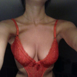 Red Lingerie - Big Tits, Lingerie, Amateur