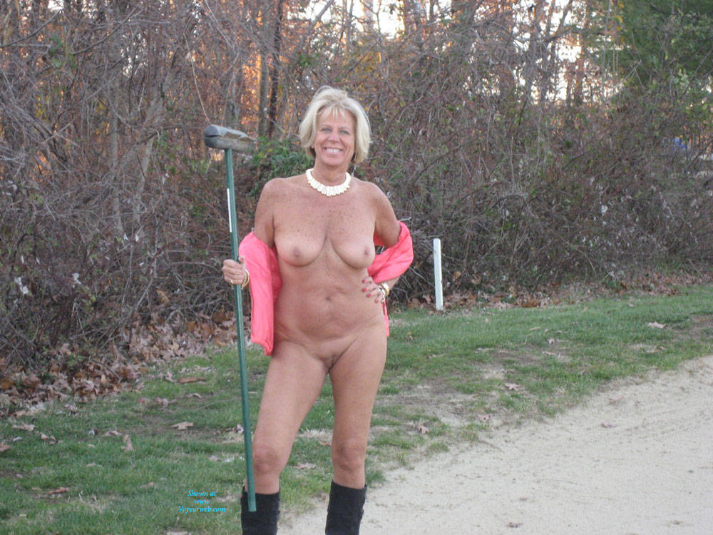 tits on the golf course
