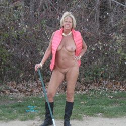 On The Golf Course - Nude Amateurs, Big Tits, Blonde, Mature, Outdoors