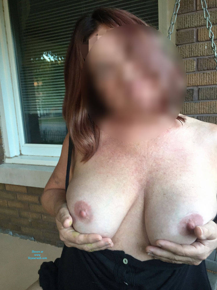 Pic #4 First Time Posting - Big Tits, Public Exhibitionist, See Through, Flashing, Public Place