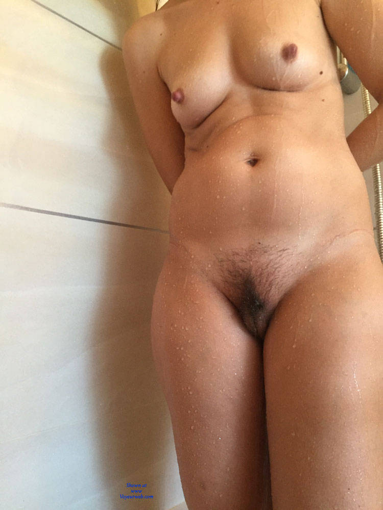 Pic #1 Taking A Shower - Nude Wives, Bush Or Hairy, Wet Tits, Wife/wives
