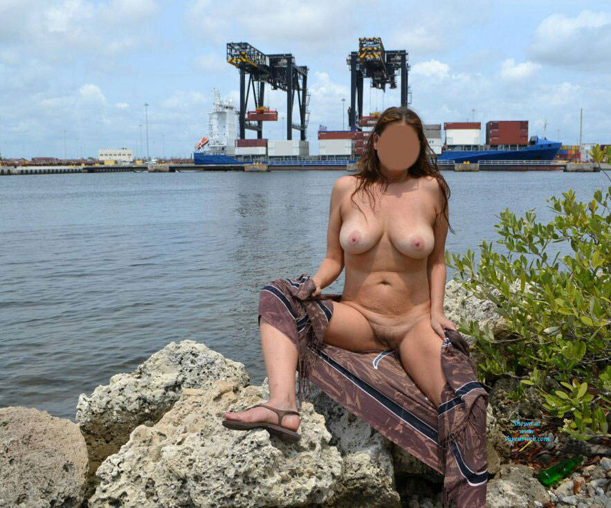 Pic #1 Spreading At The Park - Nude Amateurs, Big Tits, Outdoors